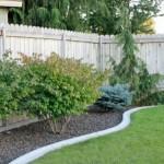 minimalistic backyard gardening with rocks ideas