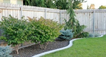 minimalistic backyard gardening with rocks ideas