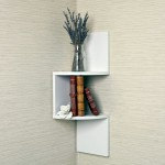 minimalistic small corner shelving unit