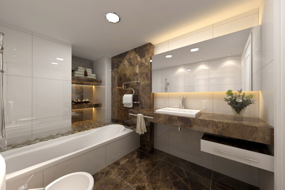 15 unbelievable modern bathroom interior designs for Modern style bathroom designs