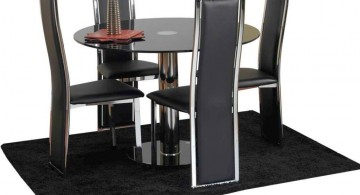 modern looking leather-made dining table chairs designs