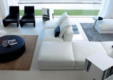 modular sofa in modern living room