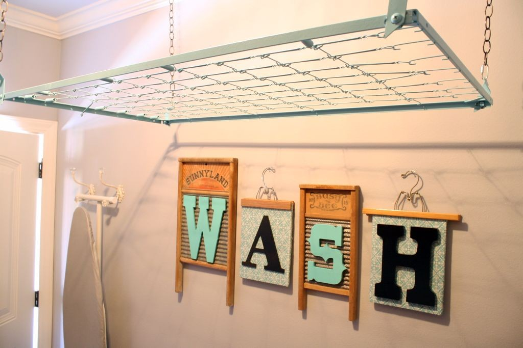mounted laundry room clothes hanger racks designs using old wire