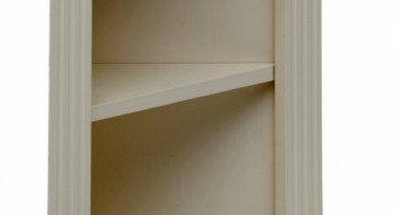 short and basic small corner shelving unit