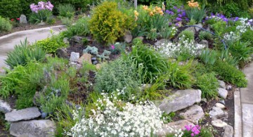 simple gardening with rocks ideas