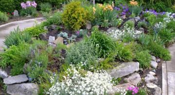simple gardening with rocks ideas