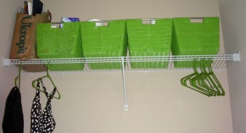 simple hanger and basket laundry room clothes hanger racks designs