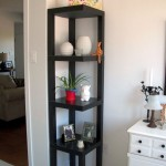 simple skeleton small corner shelving unit