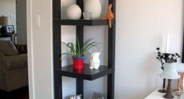 simple skeleton small corner shelving unit