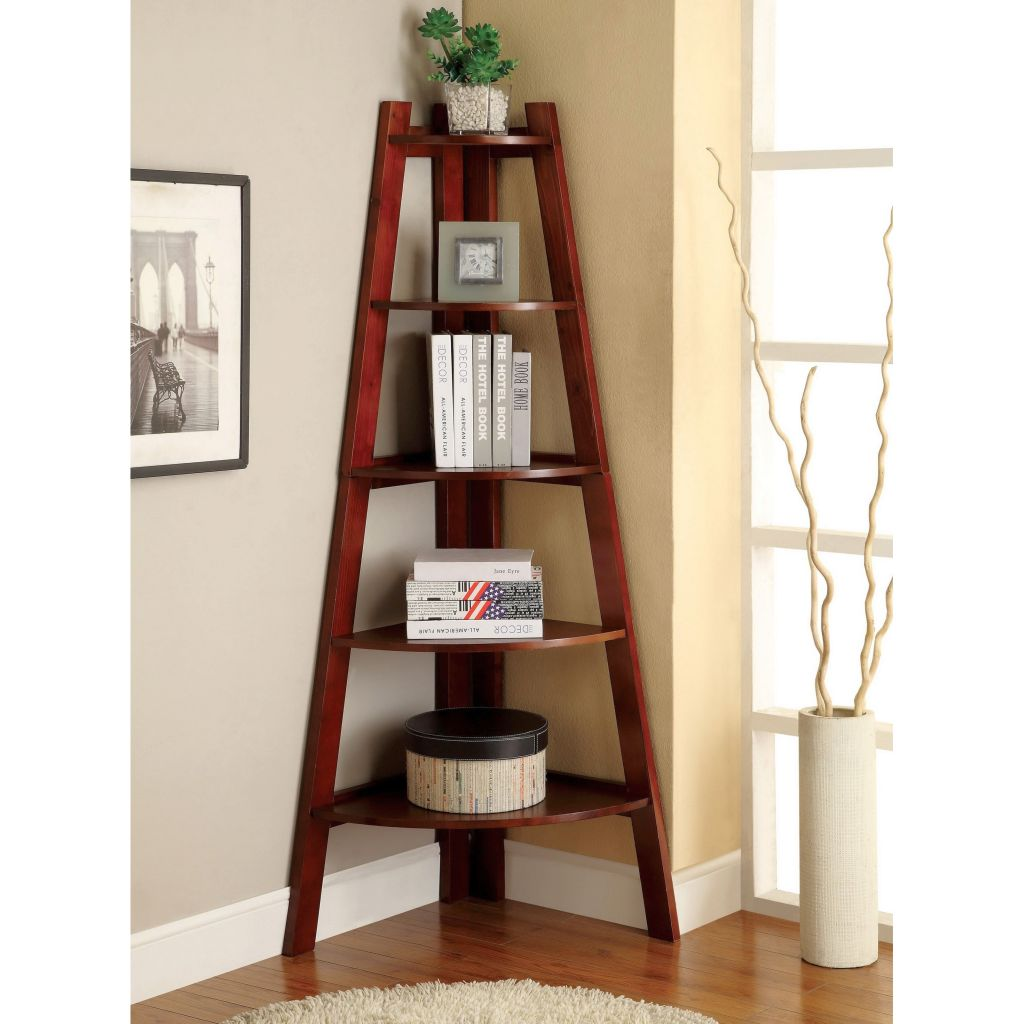 Simple Tree Shaped Small Corner Shelving Unit