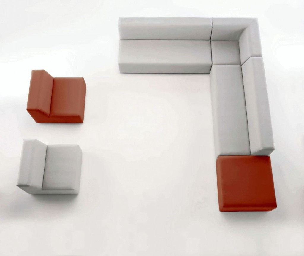 small modular sofa leather