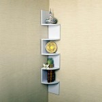 small zigzag small corner shelving unit