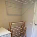 two types of laundry room clothes hanger racks designs