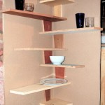 unique zig zagging small corner shelving unit