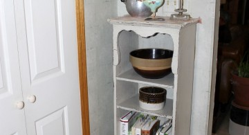 well placed small corner shelving unit