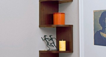 zig zag bookhself small corner shelving unit