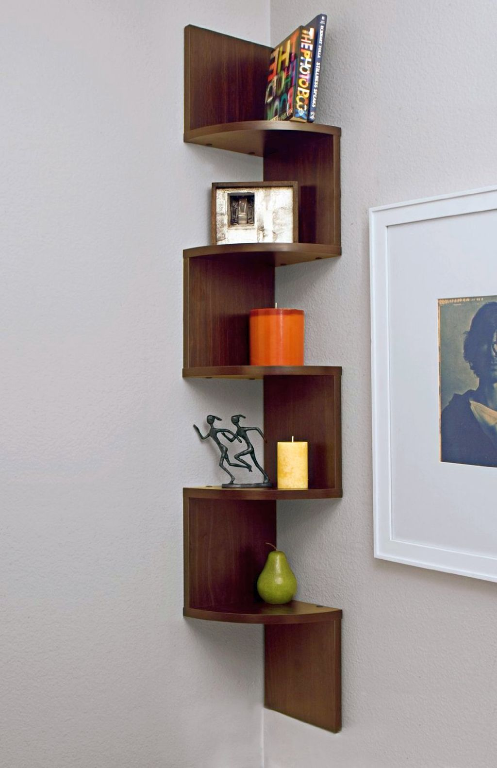 20 Great Inspirations of Small Corner Shelving Unit