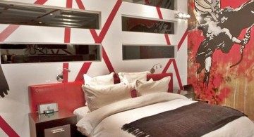 3d effect cool painting ideas for bedrooms