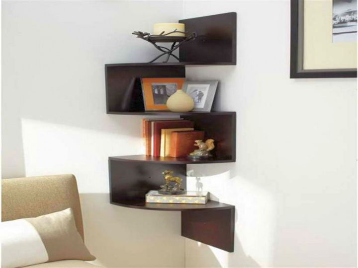 18 Pretty Corner Shelf Designs To Help You Tidy Up