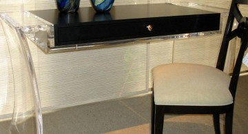 Acrylic Computer Desk with curved legs