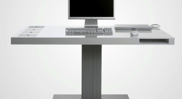 Acrylic Computer Desk with single leg support