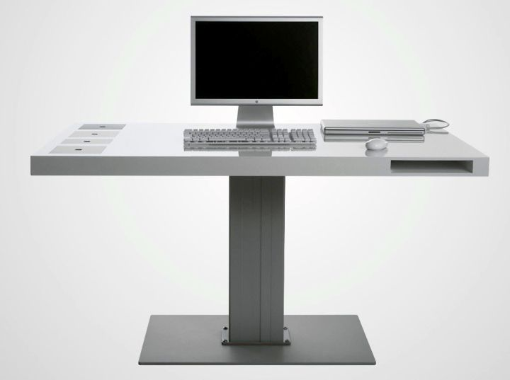 gallery for sleek acrylic computer desk designs - Computer Desk Designs For Home