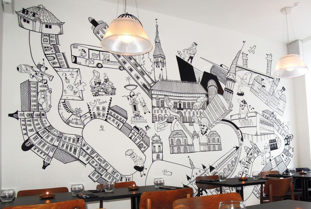 Cool wall painting designs to sweeten your interior for Designs to paint