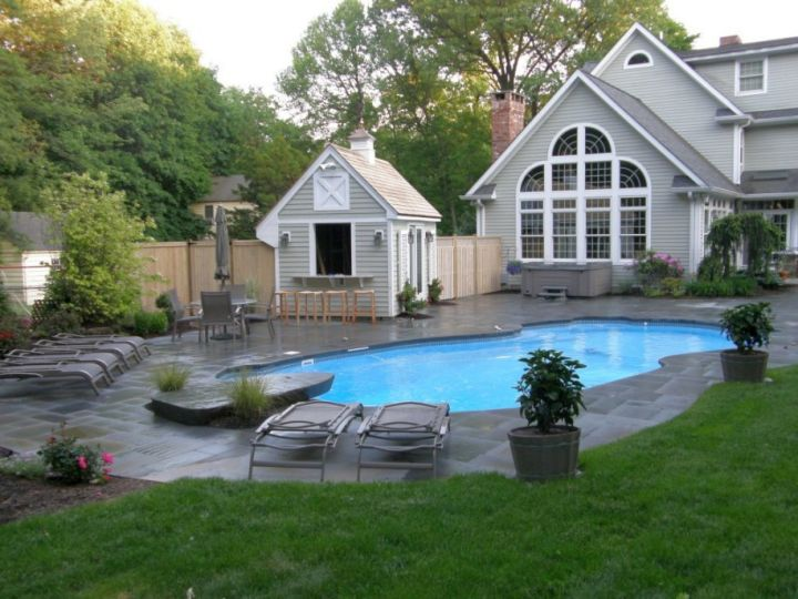 Backyard Pool Design Ideas backyard above ground pool landscaping ideas another example of an above ground pool build into the Gallery For Small Backyard Swimming Pool Design Ideas