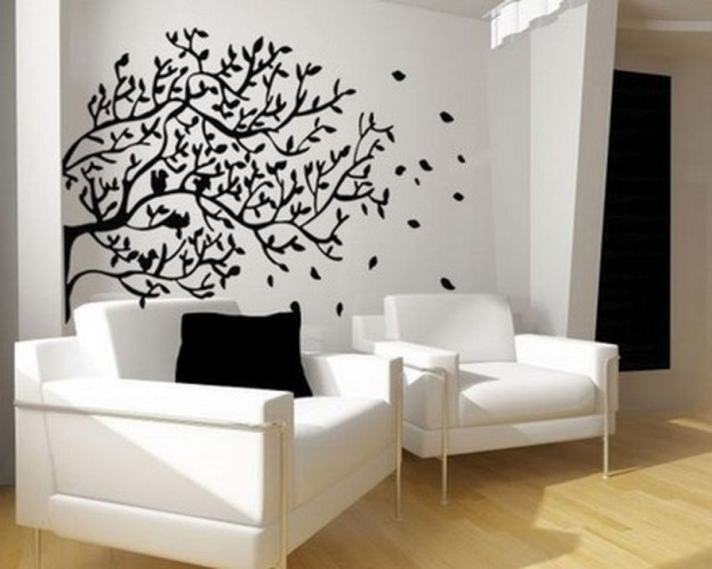 Cool wall painting designs to sweeten your interior for Black wall mural