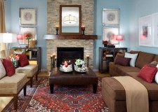 17 Pleasant Blue And Brown Living Room Designs Part 79