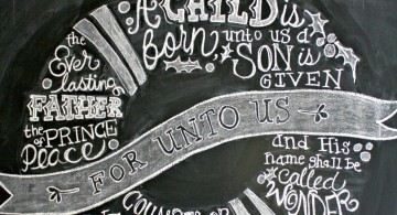 Christmas themed chalkboard writing ideas
