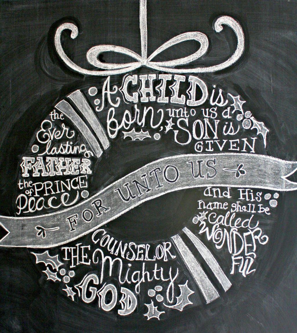 Christmas Themed Chalkboard Writing Ideas
