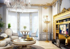 Comfortable and extravagant Victorian living room design