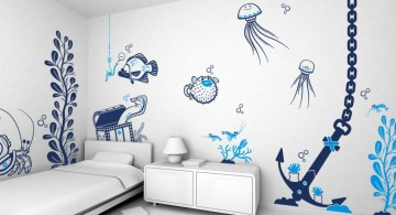 Cool wall painting designs underwater living