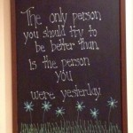 Cute and simple chalkboard writing ideas