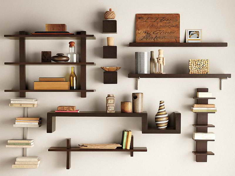 DIY floating bookshelf decoration ideas