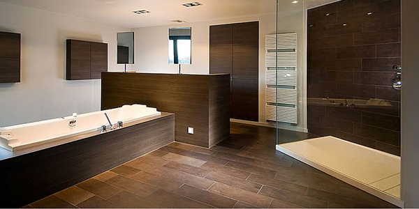 Gorgeous Brown Bathroom Ideas - Dark colored bathrooms