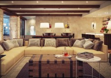 Elegant modern rustic living room designs
