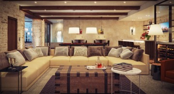 Elegant modern rustic living room designs