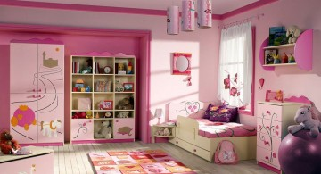 Funky pink themed awesome rooms for girls