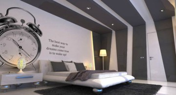 Huge alarm clock for Cool wall painting designs