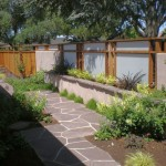 Japanese garden backyard design for long small backyard
