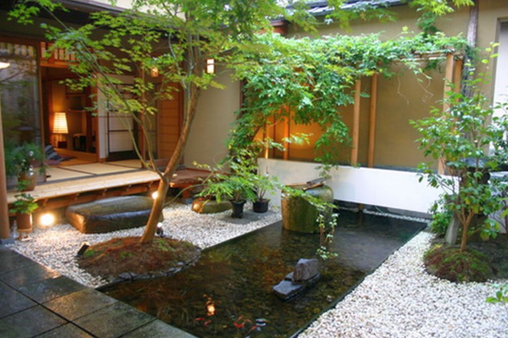 Japanese garden backyard design that also work for indoor for Backyard japanese garden design ideas