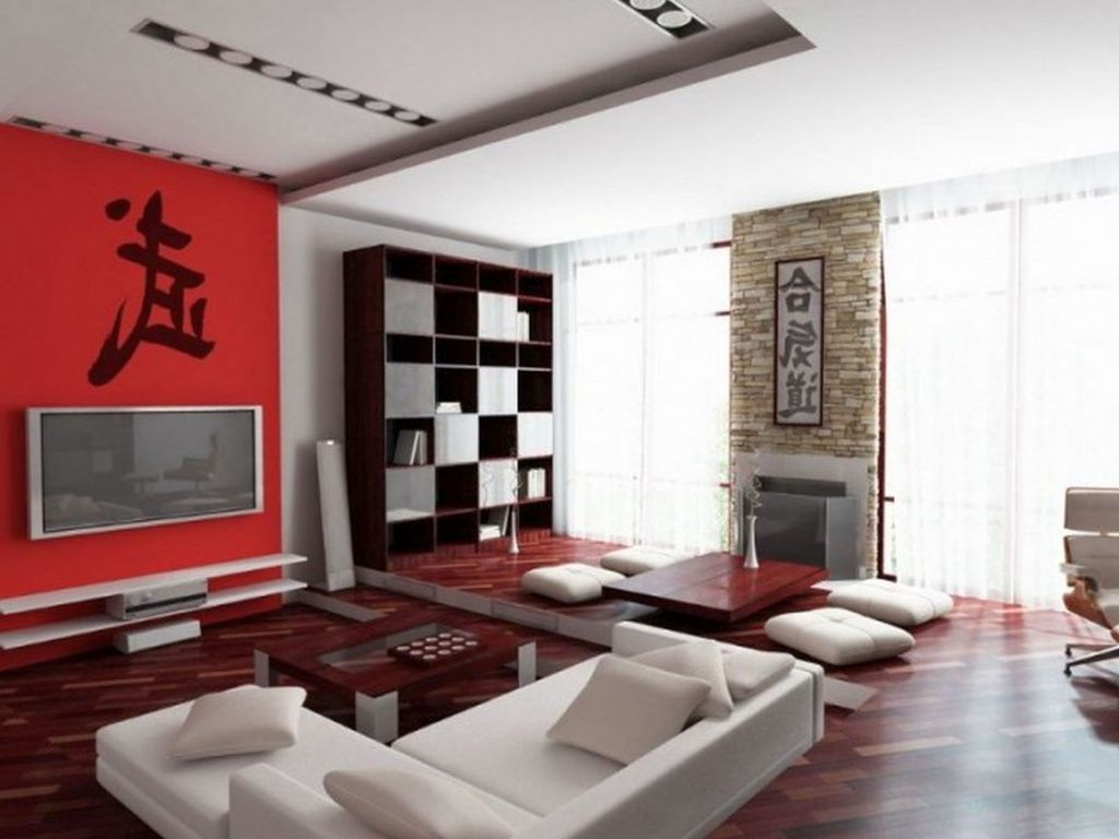Japanese paintings on japanese inspired living room for Living room ideas japan