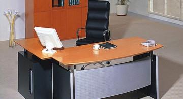 L shaped desk for minimalist office furniture