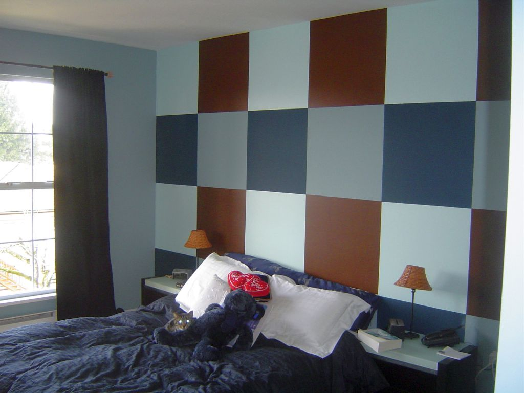 large checkered pattern cool wall painting designs