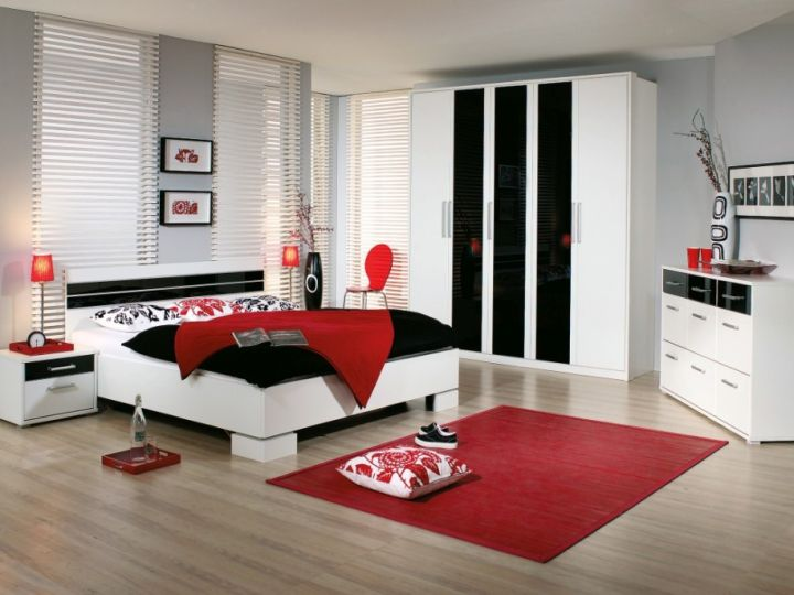 awesome red white black bedroom design   18 Stunning Black and Red Bedroom Ideas