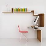 Minimalist modern bookshelf decoration for small home office
