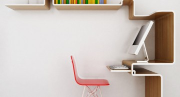 Minimalist modern bookshelf decoration for small home office