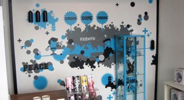 Punkish theme Cool wall painting designs for kitchen